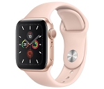 Apple Watch 5 GPS, 40 mm Boîtier en Aluminium Or - Bracelet Sport Rose des Sables