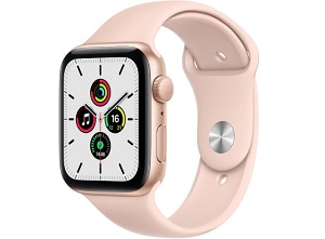 Apple Watch SE GPS boîtier en aluminium or de 44mm or avec Bracelet Sport rose