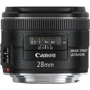 Objectif Canon EF 28mm f2.8 IS USM